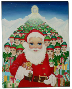 Big Eye Santa and his Big Eye Elves