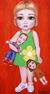 Violet w/ her mom & dad